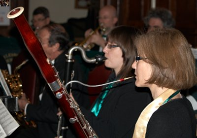 Photo of some members of Aylesbury Concert Band performing