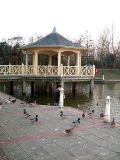 Photo of the bandstand at Watermead, Aylesbury