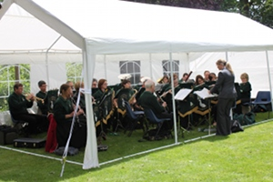 Photo of the band playing at Cublington
