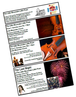 Flyer for the Little Missenden Little Proms